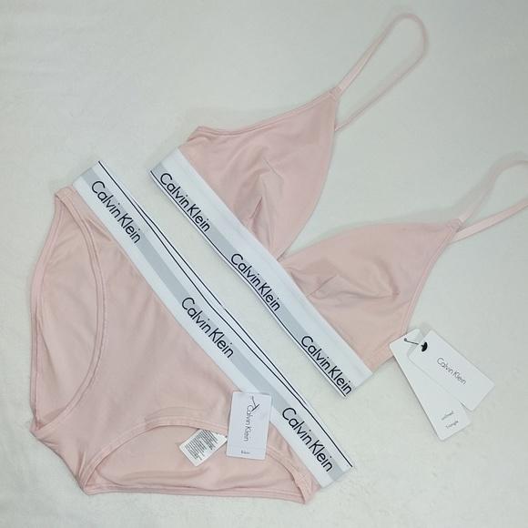 5bdf46875b Calvin Klien pastel pink bralette w  bikini briefs